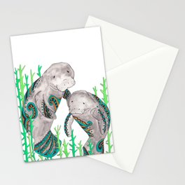 Manatees Stationery Cards
