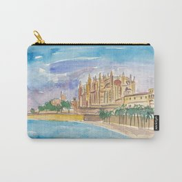 Palma Majorca Cathedral Waterfront at Sunset Carry-All Pouch
