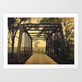 Country Bridge  Art Print