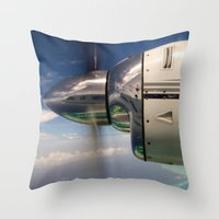 mirror Throw Pillows featuring Mirror by Rafael Andres Badell Grau