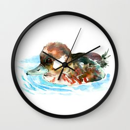 Duck, Bufflehead Duck baby Wild Duck Wall Clock