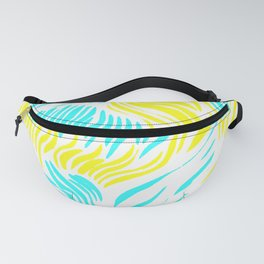 Blue and Yellow Animal Tropical Print Fanny Pack