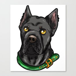 Cane Corso Dog Puppy Doggie Cartoon Present Canvas Print
