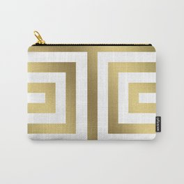 Gold Greek Stripes Carry-All Pouch