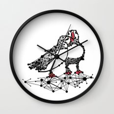 the Puffins Wall Clock