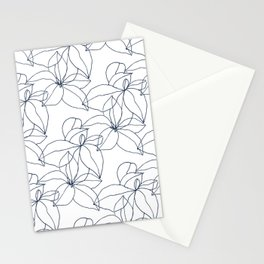 Floral Drawing, Overlap Stationery Cards
