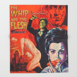 The Whip and the Flesh, vintage horror movie poster Throw Blanket