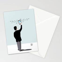 Serial Twitter Stationery Cards