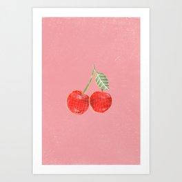 Yummi Cherry Art Print