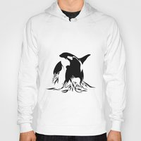 orca Hoodies featuring Orca by Bekka Kate Art