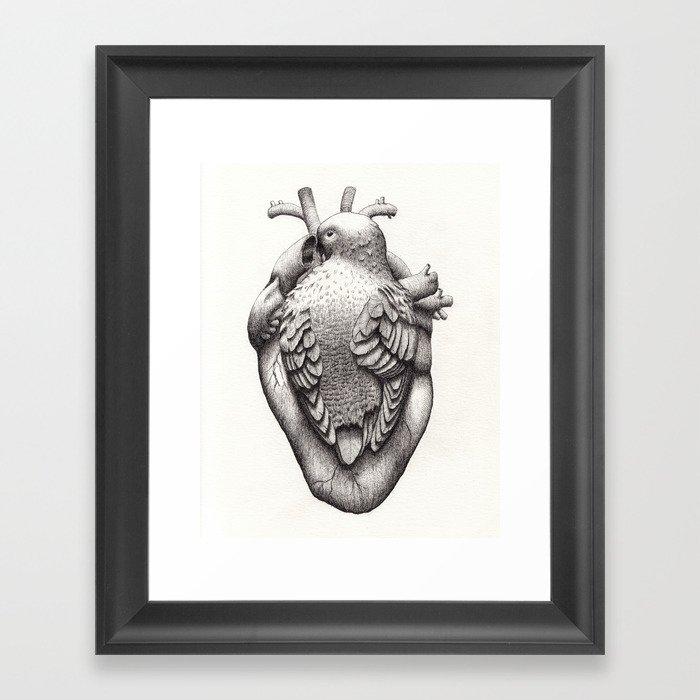 You Make my Heart Flutter Framed Art Print