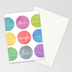 Love Laugh Live 2 (Colorful) Stationery Cards