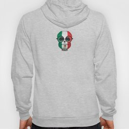 Baby Owl with Glasses and Mexican Flag Hoody
