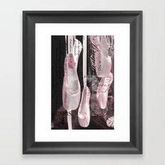 Paris Ballet Pointe Shoes - Paris Ballerina Pink Pointe Shoes - Paris Ballet Art Typography Framed Art Print