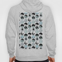 Modern Abstract Woodland Trees Design Hoody