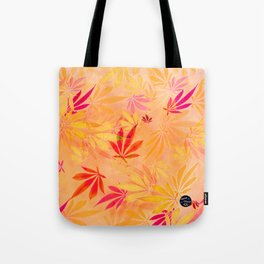 Citrus Cannabis Swirl Tote Bag