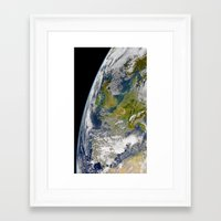 europe Framed Art Prints featuring Europe by Planet Prints