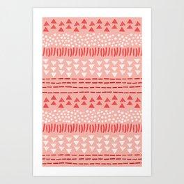 Peppermint Pattern Art Print