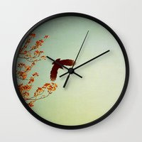 wings Wall Clocks featuring Wings by Alicia Bock
