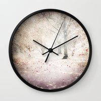 narnia Wall Clocks featuring Words Unspoken by Jenndalyn