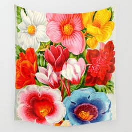 Colorful Tuberose Begonias Vintage Flowers 1896 Wall Tapestry