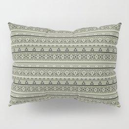 Grey , brown , ethnic , ornament , tribal , ethnic Pillow Sham