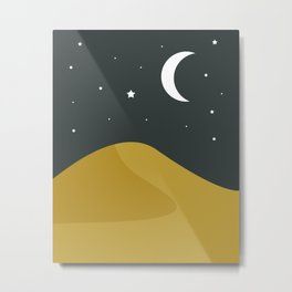 Starry Desert Metal Print