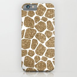 Glitter Giraffe Animal Print Pattern iPhone Case