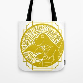 Stained Glass - Pokémon - Dragonite Tote Bag