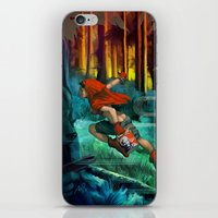 red hood iPhone & iPod Skins featuring Red Hood by Artgerm™