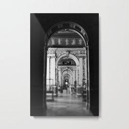 Hallway at the Louvre Metal Print