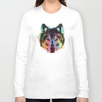 child Long Sleeve T-shirts featuring Wolf Child by Zach Terrell