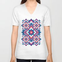 kaleidoscope V-neck T-shirts featuring Kaleidoscope by Panic Junkie