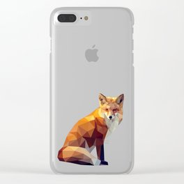 Geometric fox Clear iPhone Case
