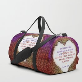 The Strength of My Heart Duffle Bag