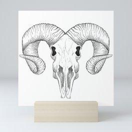 Ram Skull Mini Art Print