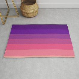 Sunset in Honululu - Purple Pink Gradient Stripes Rug