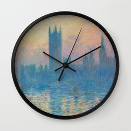 Claude Monet The Houses of Parliament, Sunset 1903 Wall Clock