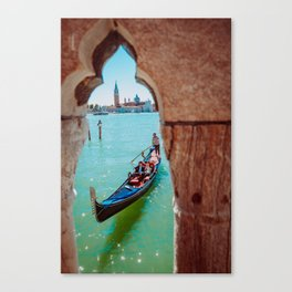 Italy - Venice - Gondola - travel photography & landscapes Canvas Print