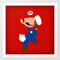 The world famous plumber (Mario) Art Print