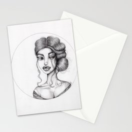 JennyMannoArt Graphite Drawing/Nora Stationery Cards