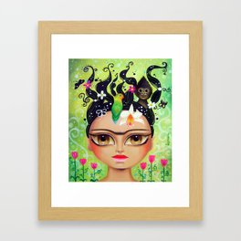 Frida connecting with nature Framed Art Print