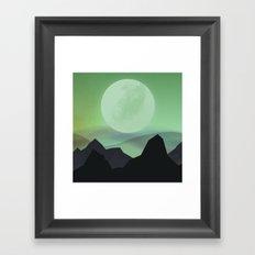 Hazy Mountains Framed Art Print