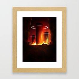 The Burning Light Framed Art Print