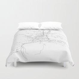 Minimal City Maps - Map Of Banja Luka, Bosnia And Herzegovina. Duvet Cover