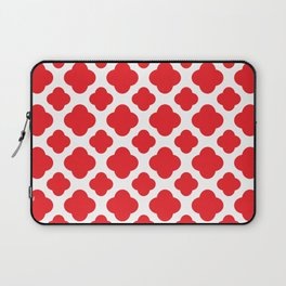 Red Quatrefoil Pattern Laptop Sleeve