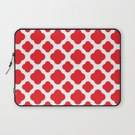 Red Quatrefoil Pattern Laptop Sleeve