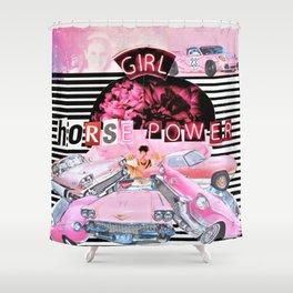 Girl Horsepower Shower Curtain