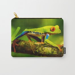 red-eyed tree frog | Watercolor Painting Carry-All Pouch