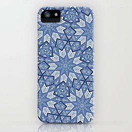 Nine Fold pattern blue iPhone Case